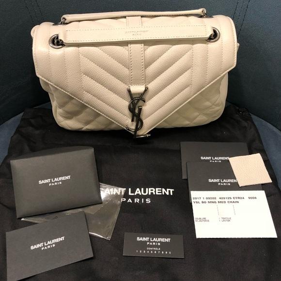 Yves Saint Laurent Bags   Authentic Ysl Monogramed Medium Sling Bag ... 2ab57d1e19
